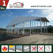 Grande tente Arcum pour les ventes chaudes avec des murs en verre et des portes en verre