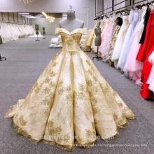 HA749B Baiyi vestido de novia 2018 vestido de bola de lujo vestidos de novia hombro