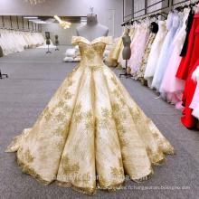 HA749B Baiyi robe de mariée 2018 luxe robe de bal robes de mariée hors épaule