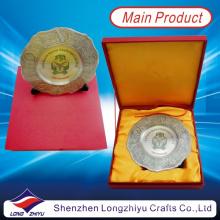 2013 Nigeria Beach Soccer Souvenir Plate Gedenken Silber Plaue mit Geschenkbox (lzy00012)