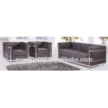 Ks816 Sofás de escritório de mobiliário contemporâneo sofás de pernas de aço inoxidável