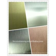 hoja / bobina de aluminio cepillada y coloreada