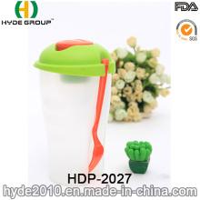 Ensalada insípida buena calidad ir envase con tenedor (HDP-2027)