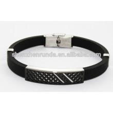 Оптовый браслет силикона ювелирных изделий способа черный для человека Китай Поставщик & изготовитель & фабрика