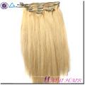 Gros 5A Grade Blonde Couleur Corps Vague Clip Dans Vierge Brésilienne Remy Extensions de Cheveux Humains