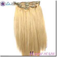 Wholesale 5A Grade Blonde Color Body Wave Clip In Virgin Brazilian Remy Human Hair Extensions