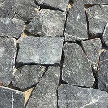Black Quartzite Irregular Natural Castle Stone