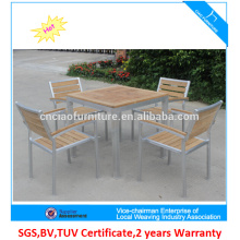 Hot sale teakwood and Aluminum frame garden leisure outdoor furniture