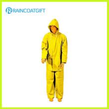2PCS Amarelo PVC Poliéster Men Rainsuit (Rpp-034)