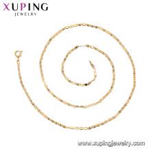 44491-xuping voga jóias estilo simples 18k colar de corrente de ouro
