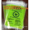 PE Biohazard Bag with zip,plastic biohazard zipper lock bag, PE Biohazard specimen zipper bag, Biohazard Medical Zipper Bag Hosp