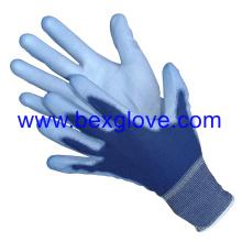 Gaine de polyester 13 Gauge, Colorée, Gant de revêtement en polyuréthane