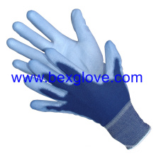 13 Gauge Polyester Liner, Colored, Polyurethane Coating Glove