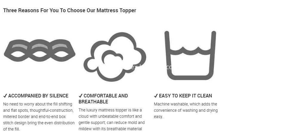 Microfiber Mattress Topper , Quilted Mattress Topper , Microfiber Mattress Topper , White Cotton Cover Mattress Pad