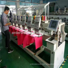 China top quality Towel / Garment Computer 6Heads flat Cap Embroidery Machine / Machinery