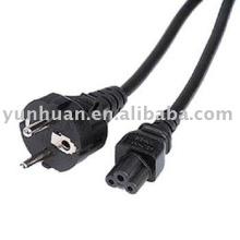 Cordons d'alimentation pour ordinateur portable IEC C5 droite prise schuko trèfle