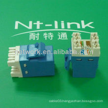180 Degree Blue Cheap Price RJ45 Cat6 Keystone Jack