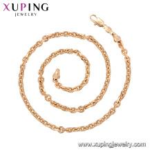 44878 venda quente não stone18K banhado a ouro colar de corrente xuping jóias