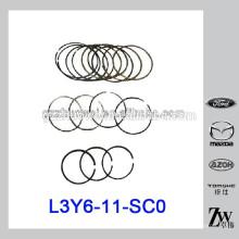 Piezas de automóvil RIK anillo de pistón STD para Mazda M6 / 2.0 2.3 / M3 L3Y6-11-SC0 RIK30155