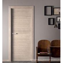Puerta de puerta de madera chapada moderna estable para la habitación interior