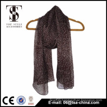 Fashionable Design 66*165cm Self Fringes Polyester Woven Scarf