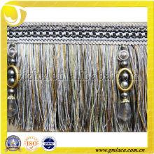 Trompete de borda de borla, sofá decorativo ou cortina