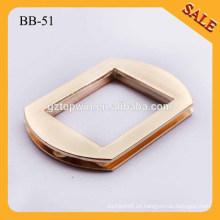 BB51 Top venta nuevo bolso de metal cuadrado anillo deslizante ajustador hebillas