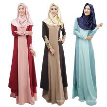 Moyen-Orient mode 2017 femmes coton bon marché doux Abaya musulman longue robe