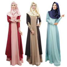 Médio Oriente moda 2017 mulheres macio algodão barato Abaya Muçulmano Vestido longo