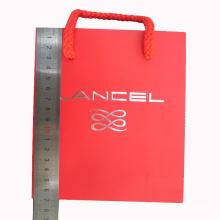 Saco de papel de cor impressa para compras e embalagem