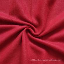 Tejido de vellón rojo liso de doble cara