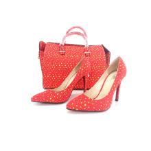 2016 afrikanische Wachs Stoffe Damen Schuhe und passende Taschen (Y 60)