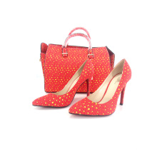 2016 African Wax Fabrics Ladies Shoes and Matching Bags (Y 60)