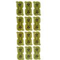 Etiquetas feitas sob encomenda redondas verdes cortadas da impressão do logotipo / etiqueta da parede / etiqueta do papel