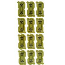 Sterben geschnittene grüne runde kundenspezifische Logo-Druckaufkleber / Wand-Aufkleber- / Papieraufkleber