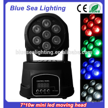 7x10w rgbw 4in1Led Mini used moving head and price