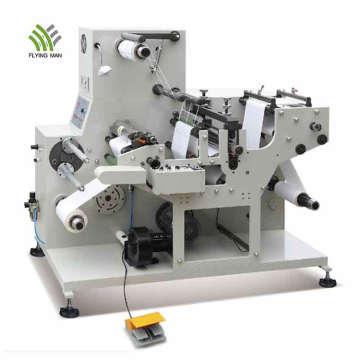 Máquina de corte e vinco rotativa para etiqueta adesiva