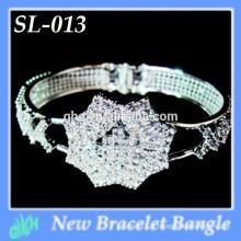 Yiwu New Fashion bangle shine silver wholesale ouvrir bracelets en argent bracelets