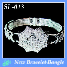 Yiwu New Fashion bangle shine prata atacado aberto bracelete pulseira de prata