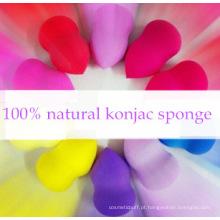 Produtos de cosméticos de cor misturando Fundação esponja