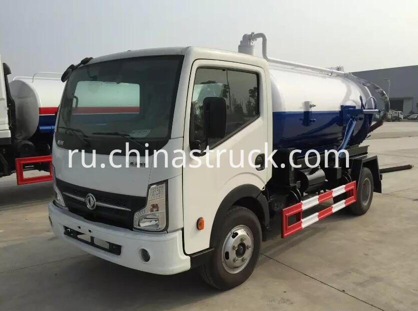 DFAC 5000 liters suction sewage truck