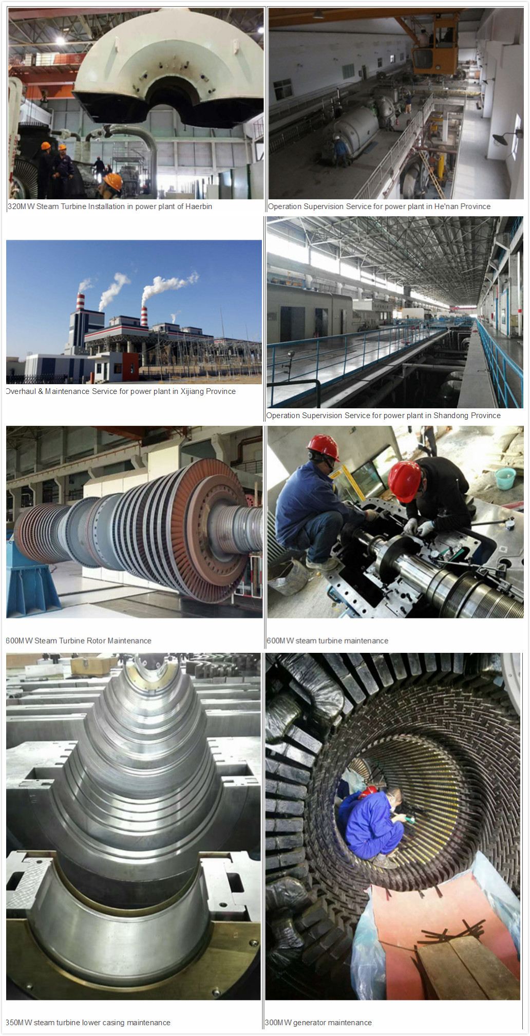 Steam Turbines Installation