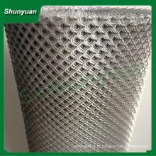 Diretamente fábrica diamante alumínio malha de metal expandido para consruction ou decoração