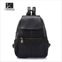 Top layer fashion customized design brand women leather backpack