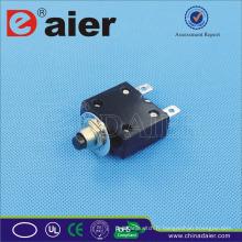 Disjoncteur de Daier ST-2A 5 ~ 50A 125VAC / 250VAC / 32VDC, disjoncteur miniature en aluminium de type noir /