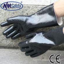NMSAFETY chemical proof jersey full coated black neoprene glove
