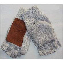 Gant d'hiver en laine tricotée