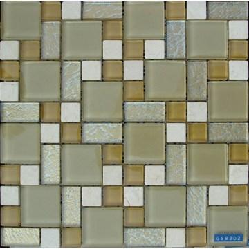 Vidrio, Azulejo mosaico piedra con mezcla de