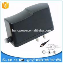 1A 2,5 mm DC Plug aprovação UL para EUA 12V DC adaptador de energia