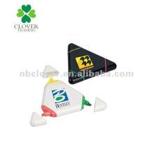 3 en 1 triángulo resaltador para la promoción